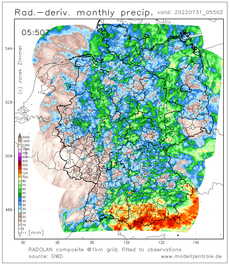 Radar month precip